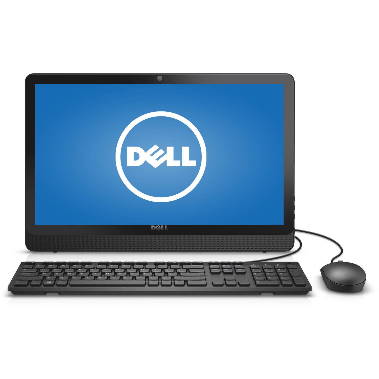"""Dell Black Bezel Inspiron 3052 All-In-One Desktop PC with Intel Celeron N3150, 4GB Memory, 19.5"""" Monitor, 500GB Hard Drive and Windows 10 Home"""