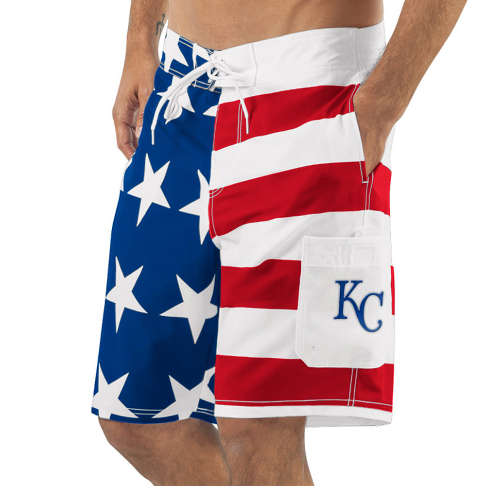 Kansas City Royals G-III Sports by Carl Banks Americana Swim Trunks - Red/Blue