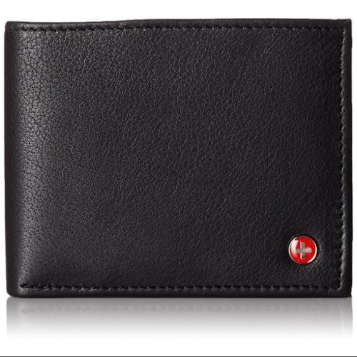 Alpine Swiss RFID Blocking Mens Bifold Wallet Keep Identity & Credit Cards Safe Black One Size