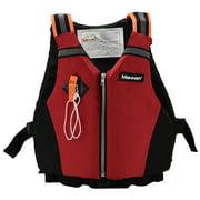 Peahefy Adult Swimming Vest,Kayaking Swimming Adult Safety Buoyancy Jacket Life Vest Reflective Strap with Whistle, Buoyancy Vest