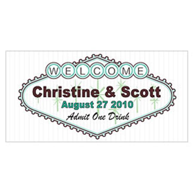Weddingstar 1058-10-c40 Las Vegas Small Ticket- Bright Green