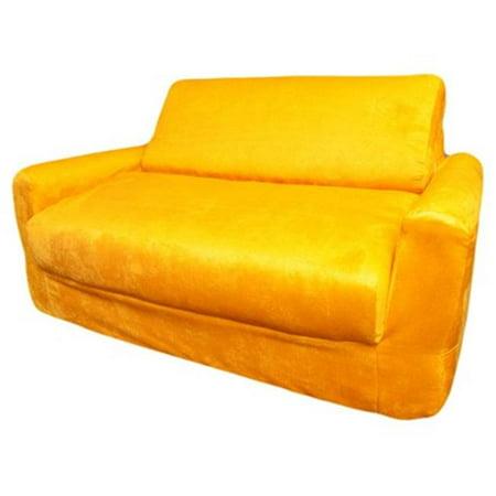 Fun Furnishings 10203 Canary Yellow Micro Suede Sofa Sleeper - image 1 of 1