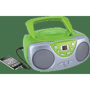 Sylvania SRCD243M Portable CD Boom Box with AM/FM Radio - Green