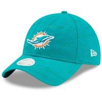 Miami Dolphins New Era Women's Worded 9TWENTY Adjustable Hat - Aqua - OSFA