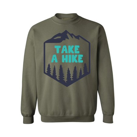 Awkward Styles Take a Hike Unisex Crewneck Take a Hike Crewneck for Women Hike Sweatshirts Hike Crewnecks Sport Outfit Hiking Crewneck for Men Outdoor Unisex Sweatshirt Hiking Lovers Gifts ()