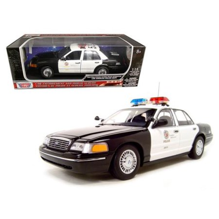 MOTOR MAX 1:18 2001 FORD CROWN VICTORIA POLICE INTERCEPTOR - LOS ANGELES POLICE DEPARTMENT (LAPD) 73539