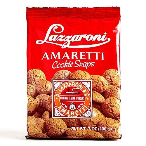 Lazzaroni Amaretti Cookie Snaps 7 oz each (5 Items Per Or...