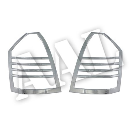AAL Premium Chrome LIGHTS BEZEL Cover For 2005 2006 2007 CHRYSLER 300 & 300C Tail Light TAILLIGHTS (Flareside Chrome Tail Light Cover)