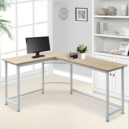 Modern Luxe L-Shape Home Office Corner Computer Desk PC ...