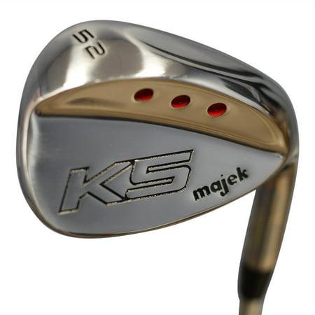 Majek Golf +2 inch over XL Big & Tall Senior Men's Gap Wedge (GW) 52° Right Handed Senior Flex Steel Shaft (Tall 6'3