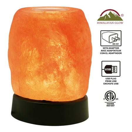 Natural Himalayan Aroma Therapy Salt lamp, Plastic Base