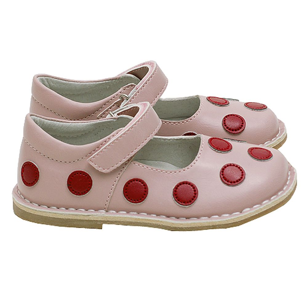 Pink Red Polka Dot Mary Jane Shoes Girls Baby 4-Little Girls 12