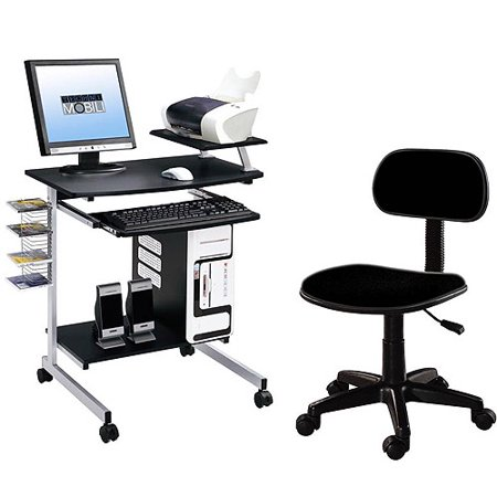 Technimobli Graphite Desk And Chair Set Box 2 Chair