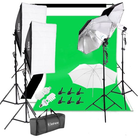 Studio Lighting Umbrella Light - Zimtown Kshioe Photography Video Studio Lighting Kit Background Stand Set 3x33