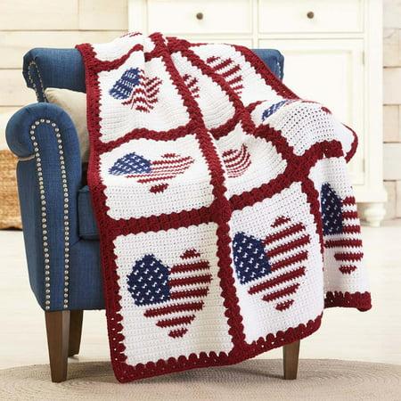 Red Heart® American Hearts Crochet Afghan Kit