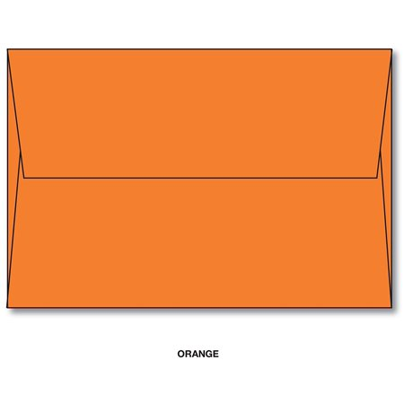 orange a7 bright color envelopes 5 1 4 x 7 1 4 for 5x7 cards
