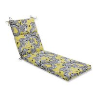 Indoor-Outdoor Herd Together Wasabi Chaise Lounge Cushion, Yellow