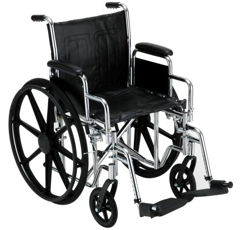 16 Inch Steel Wheelchair w/ Detachable Arms & Footrests - 1 Each / Each - 5165S