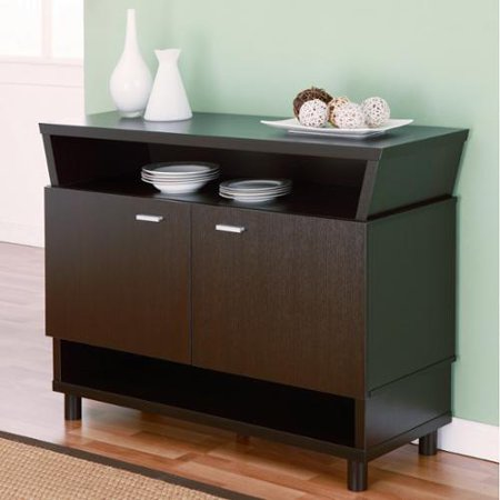 Furniture of America Modern Avant-garde 2-cabinet Dining Buffet Server Cappuccino