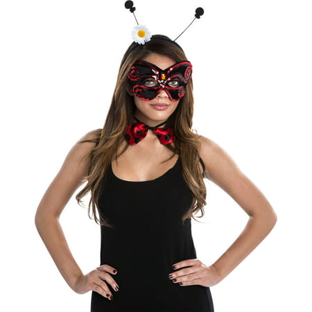 Ladybug Women's Adult Halloween Dress Up / Role Play Costume Kit