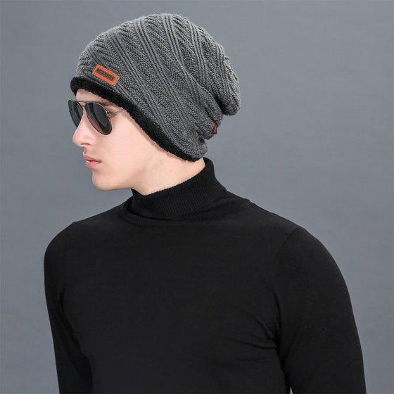 5e5fd7b978b59 Top Source - Fashion Men Knit Baggy Beanie Hat Winter Warm Oversized Ski Cap  - Walmart.com