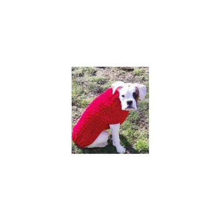 Handmade Cable Knit Wool Dog Sweater Red Xx Large Walmart Com