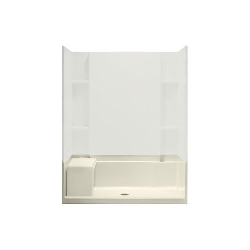 "Sterling 60"" x 36"" x 21-1/2"" White Accord Seated Shower Receptor"