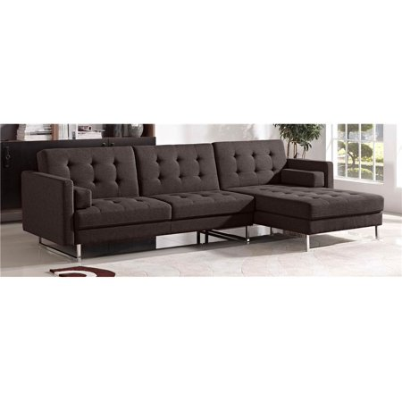 Opus convertible right facing chaise sectional for Chaise convertible