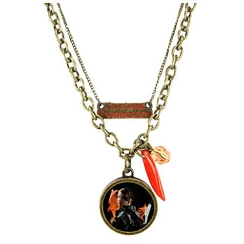 "The Hunger Games Movie Necklace Double Chain ""Katniss Everde"