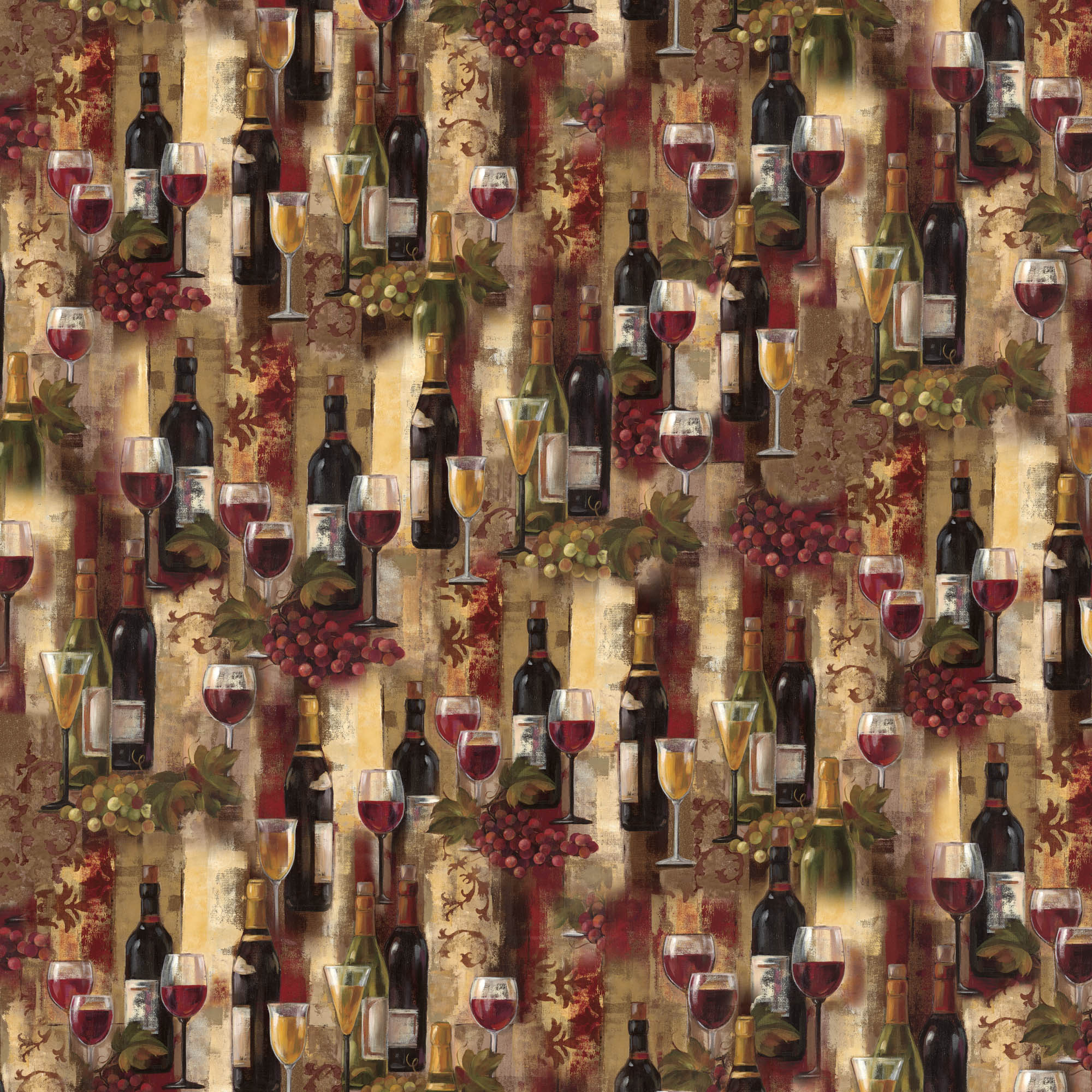 David Textiles Cotton Precut Fabric Wine Splendor 1 Yd X 44 Inches