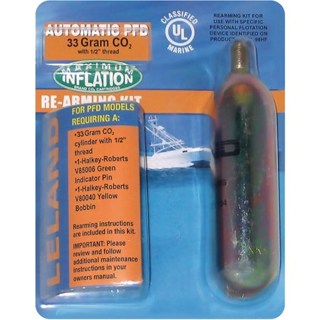 Automatic Inflatable Re Arm (Seachoice 33G Automatic Re-Arm Kit For Inflatable Vests 85860, 85840 )