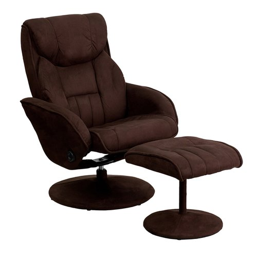 Latitude Run Jeannetta Manual Swivel Glider Recliner with Ottoman