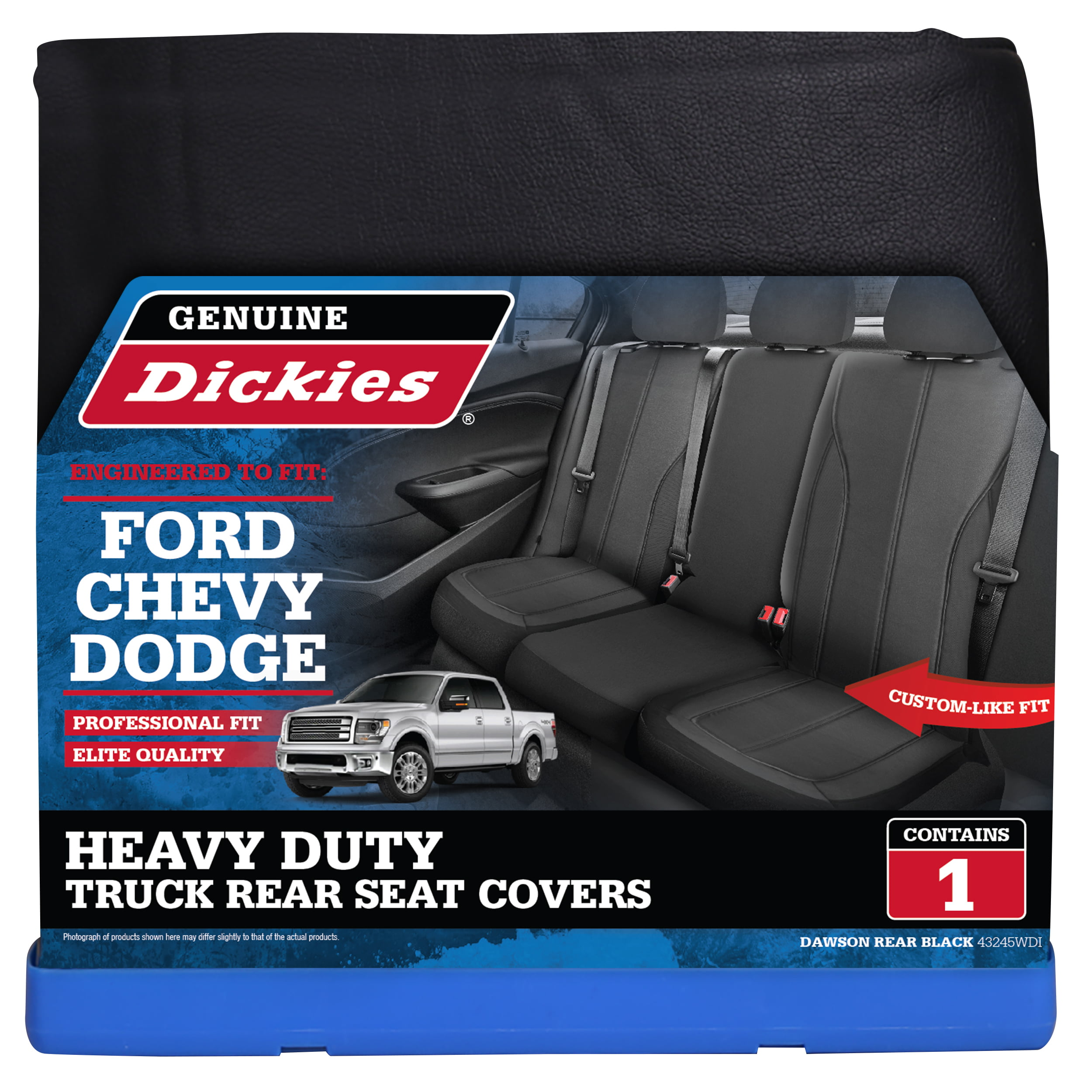 Genuine Dickies Rear Bench Truck Custom Fit Seat Cover Black Walmart Com Walmart Com