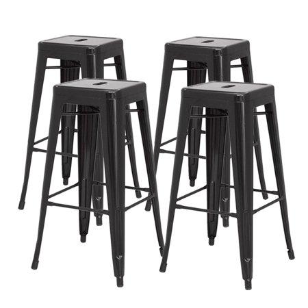 Phenomenal Metropolis Stackable Metal Backless Counter Stool Set Of 4 Multiple Colors Creativecarmelina Interior Chair Design Creativecarmelinacom