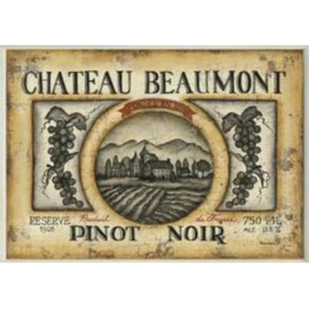 Stupell Industries KWP-876 Tan Chateau Beaumont Pinot Noir Rect Wall Plaque ()