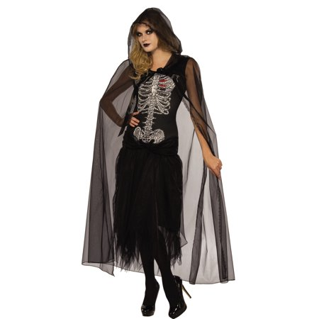 Lovely Lady Death Adult Women Grim Reaper Ghoul Halloween Costume-Std