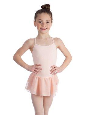 Elowel Kids Toddler Girls Basic Skirted Camisole Leotard White Size 2-4