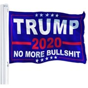 G128  Trump 2020 Election Flag   3x5 feet   Printed 150D Polyester  Indoor/Outdoor, Vibrant Colors, Brass Grommets, Much Thicker More Durable than 100D 75D Polyester, Banner