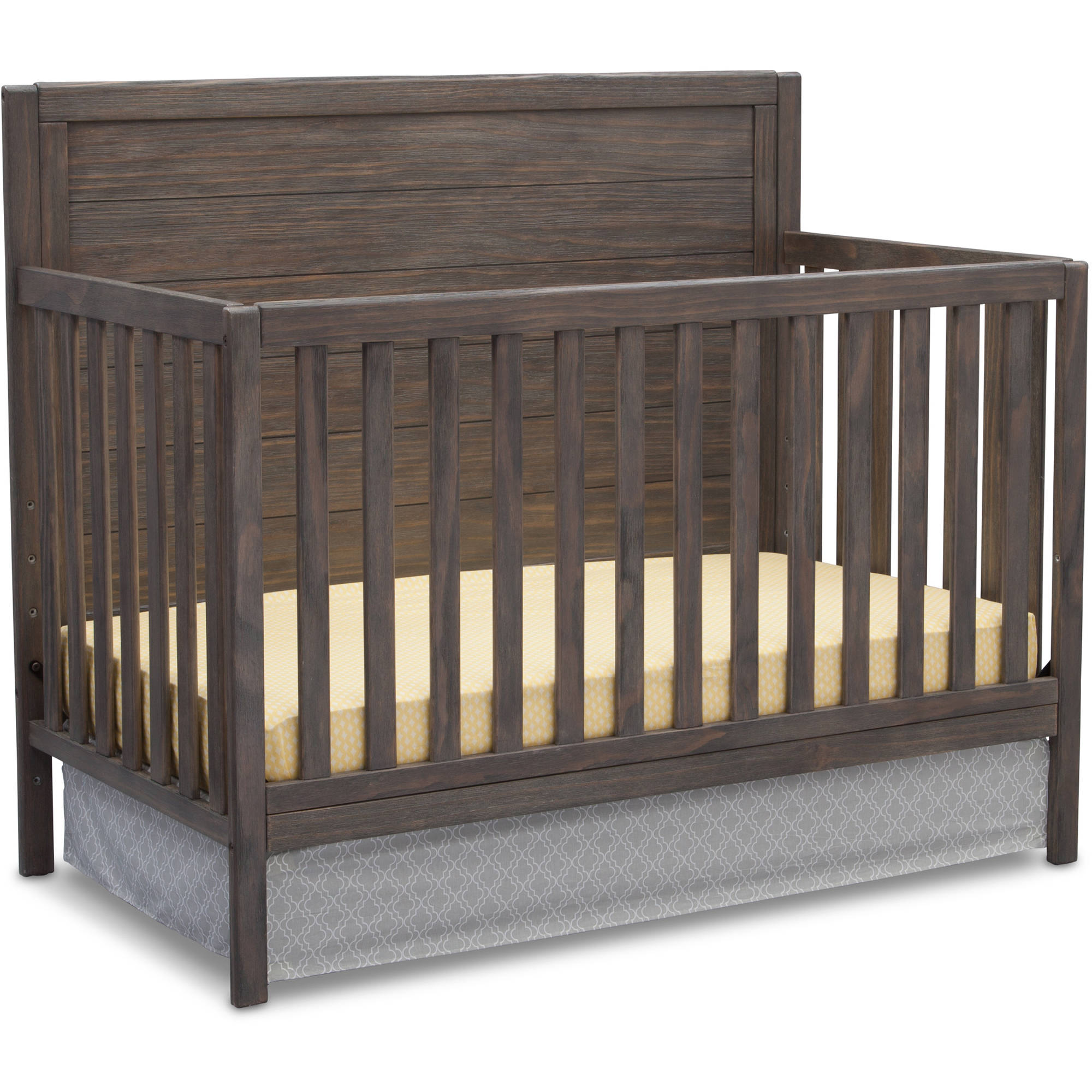 Delta Children Cambridge Mix and Match 4-in-1 Convertible Crib - Rustic Gray