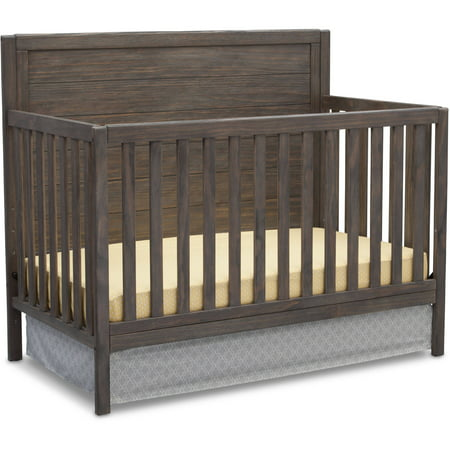 - Delta Children Cambridge Mix and Match 4-in-1 Convertible Crib - Rustic Gray