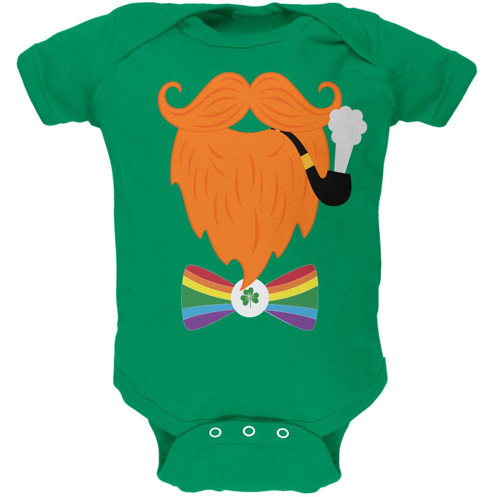 Halloween Leprechaun Costume Rainbow Bow Tie Soft Baby One Piece