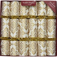 Robin Reed English Holiday Christmas Crackers, Pack of 6 - All That Glitters 61738