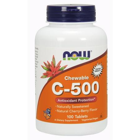 NOW Foods: protection antioxydante C-500, 100 comprimés à croquer