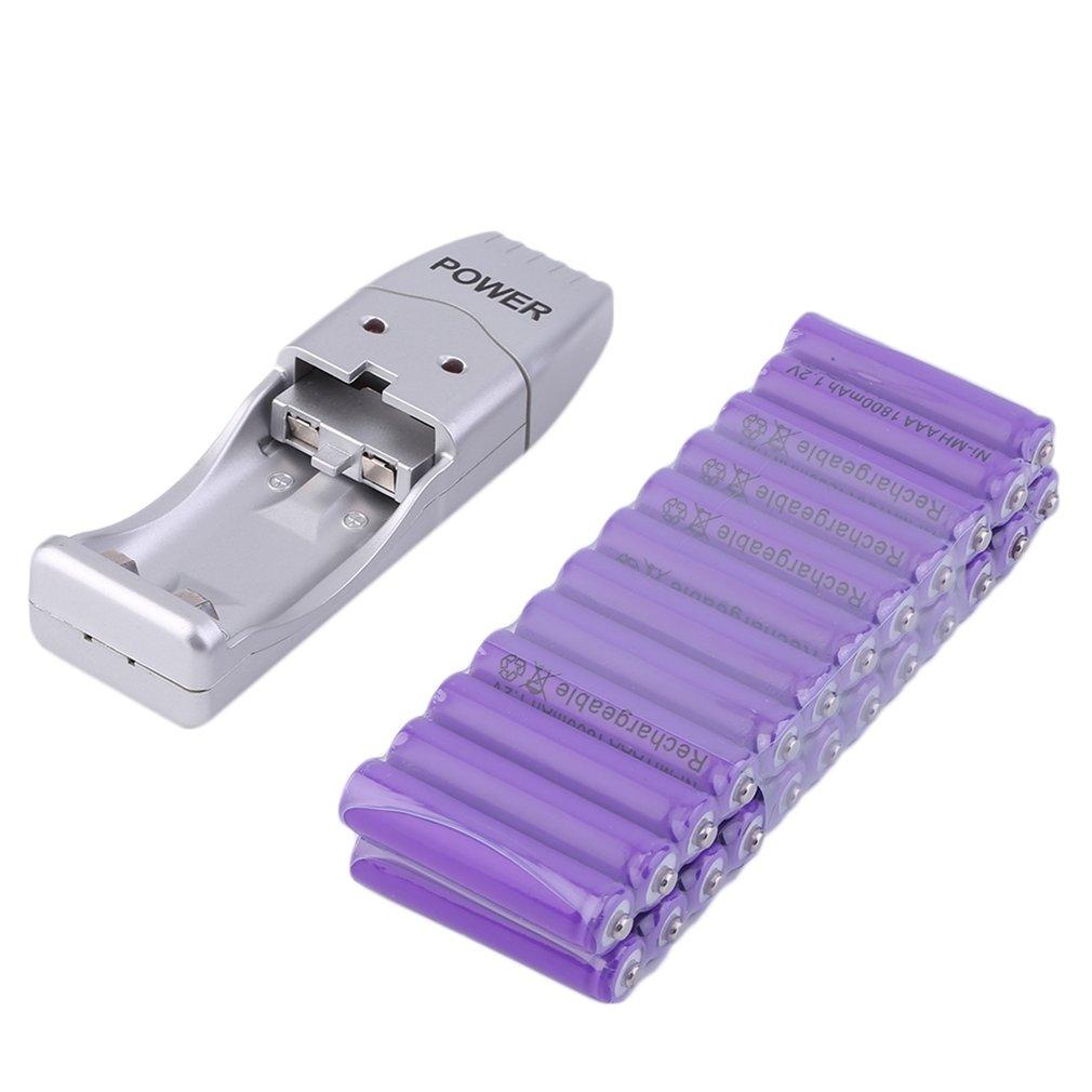 Reable Battery 24pcs/lot, 20pcs/lot,24pcs+2 Slot AAA 1800mAh 1.2 V Ni-MH Reable Battery Purple for MP3 RC Toys Camera