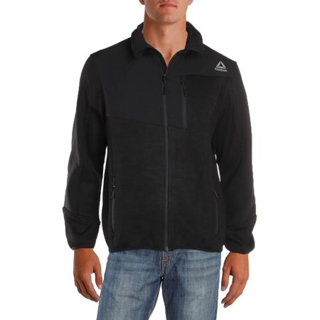 Reebok Mens Spyder Sweater Fleece Lightweight Soft Shell Jacket