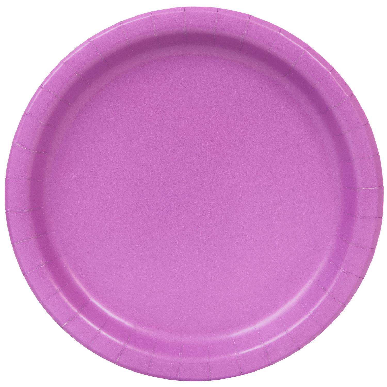 Paper Plates, 7 in, Purple, 20ct