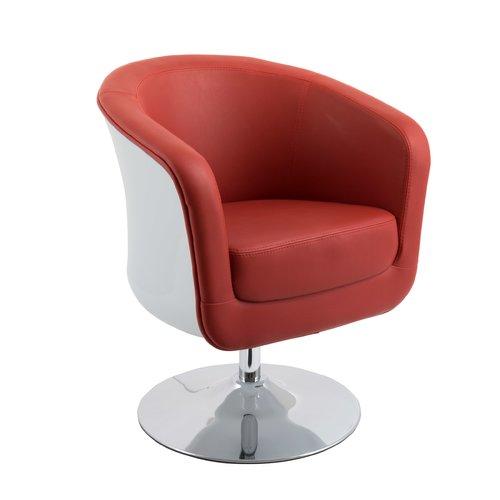 Modern Bonded Leather Tub Chair