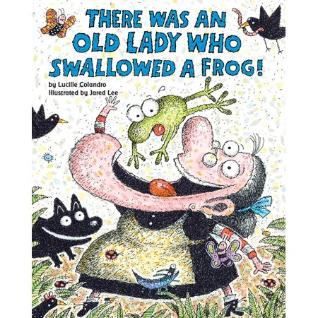 There Was an Old Lady Who Swallowed a Frog! (Paperback) - Who There On Halloween Book