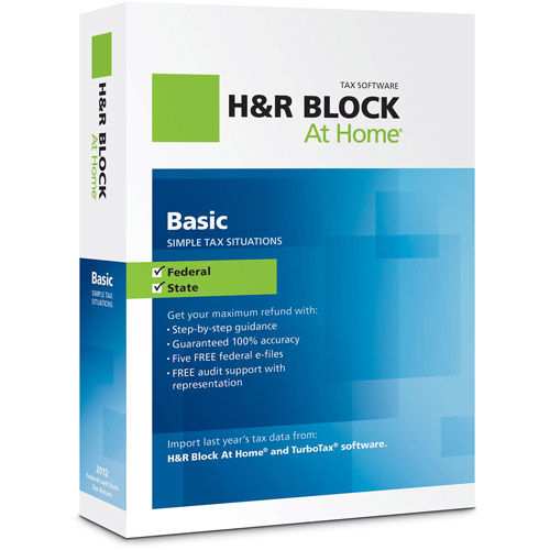 H&R Block At Home 2012 Basic   State