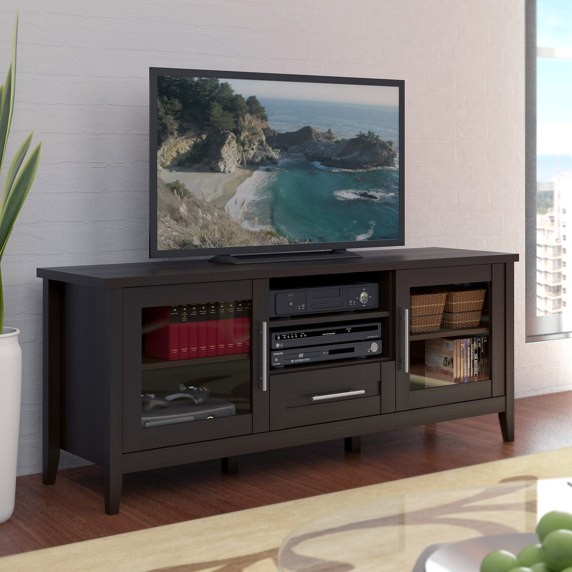 """CorLiving Jackson Espresso TV Stand for TVs up to 65"""""""